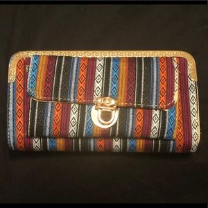 Handbags - HANDMADE Guatemalan textile pocketed wallet NWOT